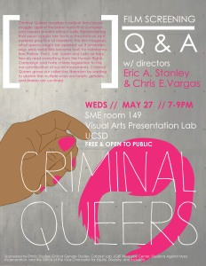 criminal queers flyer