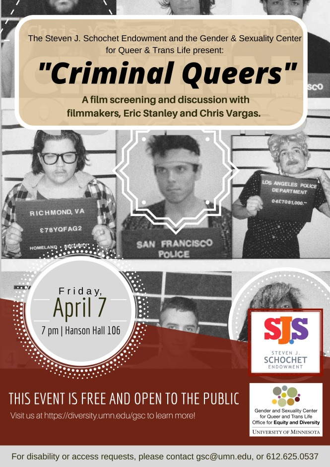 Criminal Queers flyer 2017